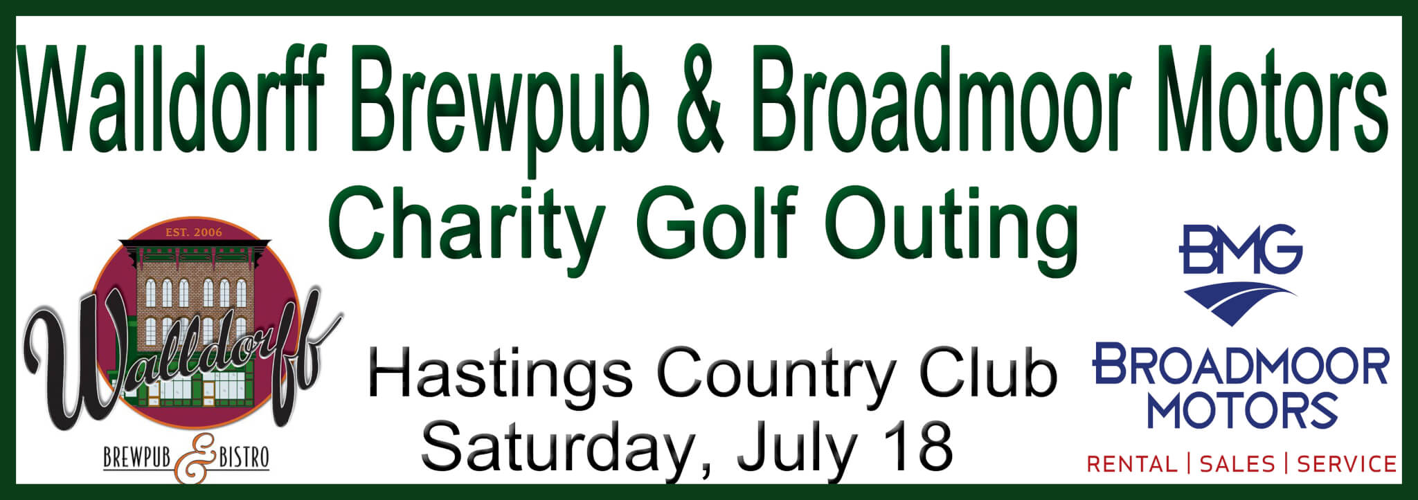 Golf Outing Website Banner Frame